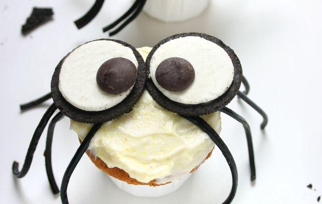 Recette n° 206 : Cupcakes araignée d'Halloween !
