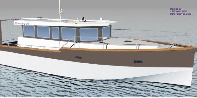 Dragon's 39, le trawler écolo du chantier CNTI (56)
