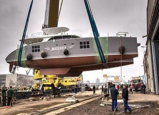 Trois catamarans mis à l'eau cette semaine chez Sunreef Yachts