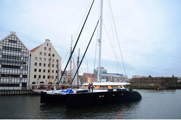 Yachting - premiers essais en mer pour le catamaran Sunreef 80 Carbon Line