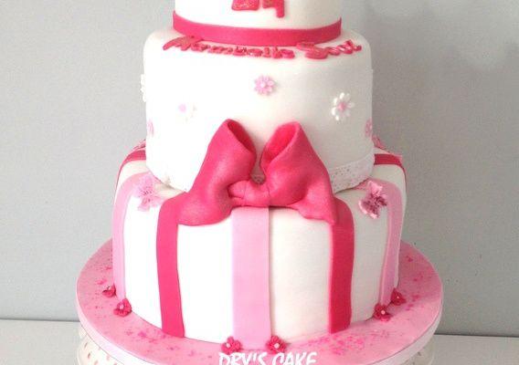 Princess Pink Birthday Cake