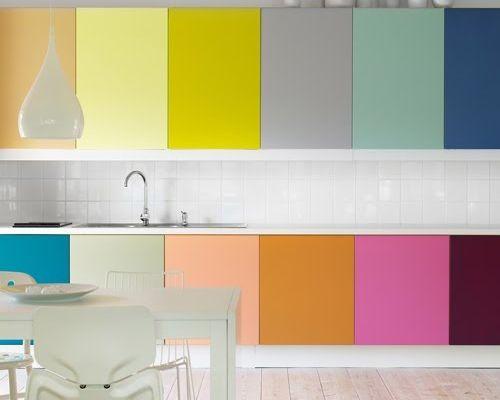 Oser les meubles de cuisine colorés