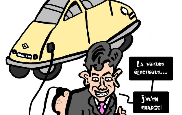 Montebourg au volant de la Renault Zoé: