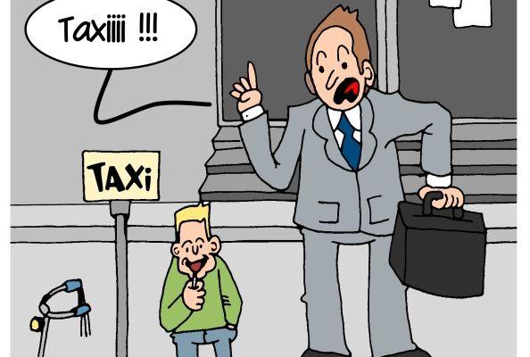 Les taxis en grève:
