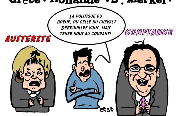 Grèce : Hollande VS. Merkel.