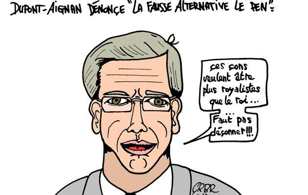 """Dupont-Aignan dénonce """"La fausse alternative Le Pen"""":"""