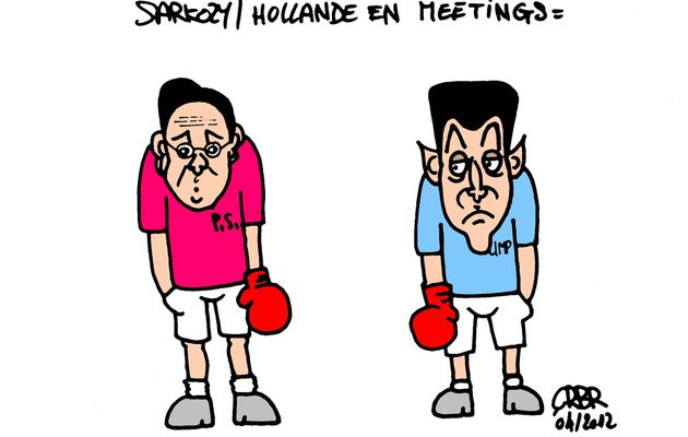 Sarkozy/Hollande en meetings: