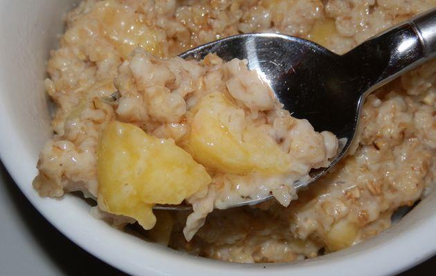 porridge à la pomme et sirop d'agave