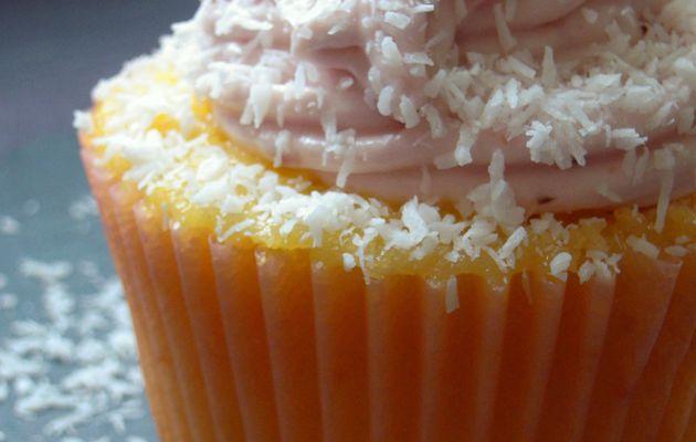 Cupcake pamplemousse rose & noix de coco