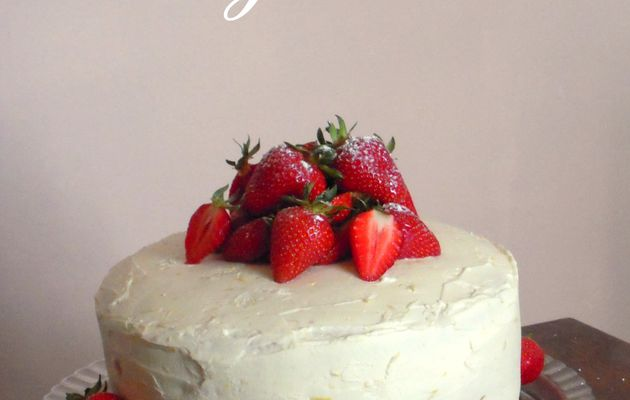Layer cake fraise et citron