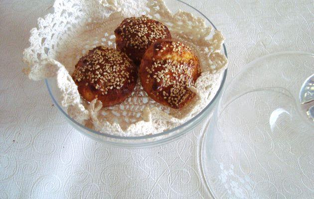 Briochettes aux graines de sésame
