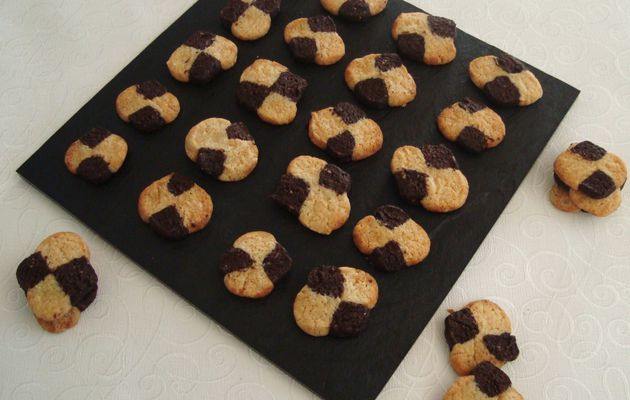 Biscuits Damiers Cacao / Vanille