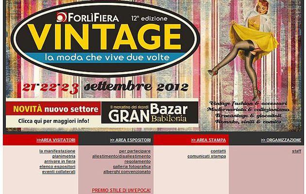 VINTAGE, LA MODA CHE VIVE DUE VOLTE (Forlì 21-22 settembre 2012)