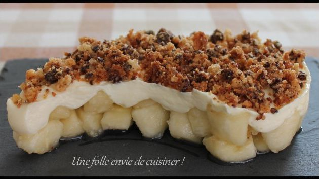 Crumble banana-split