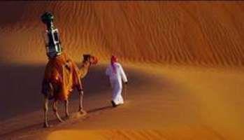 Google grimpe sur un dromadaire pour prendre des photos du désert