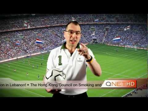 Qnet/football:sponsor officiel match amical Angleterre/Holland