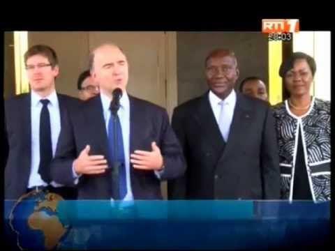 Audience du président de la republique accordée au ministre français de l'économie et du developpement