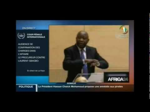 Audience de confirmation à la CPI: l'intervention de l'ex president Laurent Gbagbo