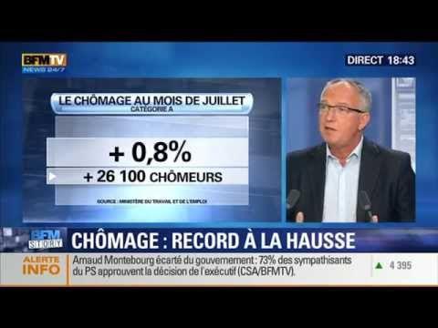 Record à la hausse du chômage: Débat sur BFM-TV avec Éric Aubin, secrétaire de la CGT.