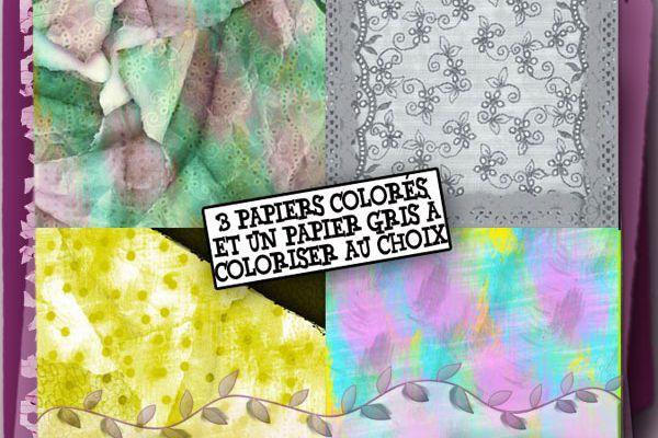 Pack papiers C.U. n°3... ScraperiesdeTiti