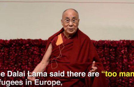 Le Dalaï Lama trouve qu'il y a « trop » de réfugiés en Europe