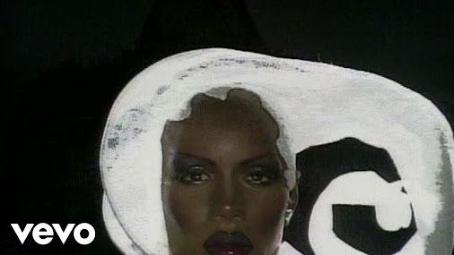 """Grace Jones """"love is the drug"""". To finish the day with song. I wish a peaceful and gentle evening to..."""