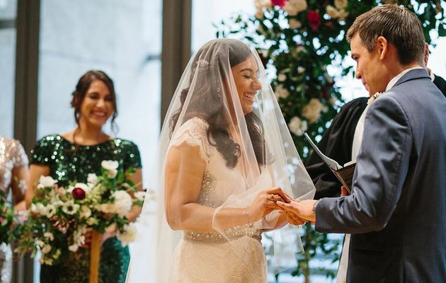 Nothing cookie-cutter about this clever couple's modern Dallas wedding