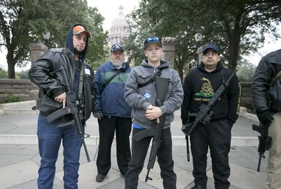 #Gun Advocates Take Up — and Make — Arms at...