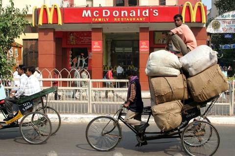 MC DONALD'S: RESTAURANTS VEGETARIENS EN INDE