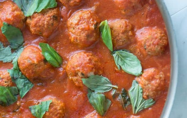 #Cuisine • Turkey Meatballs with Tomato Sauce