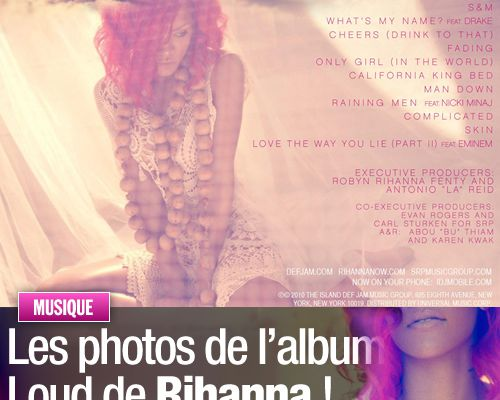 Les photos de l'album de Rihanna !