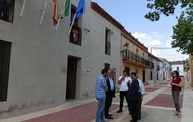 Visita del Presidente de la Diputación