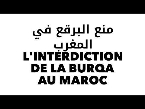 L'interdiction de la Burqa au Maroc