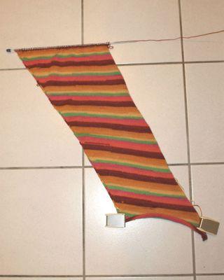 Machine à tricoter: mon col berlingot