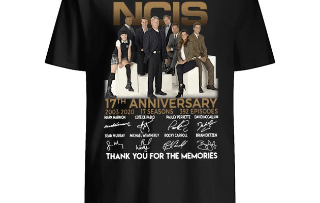 NCIS 17th Anniversary 2003-2020 Thank You For The Memories Shirt