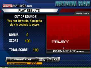 Return Man 3 - American Football game