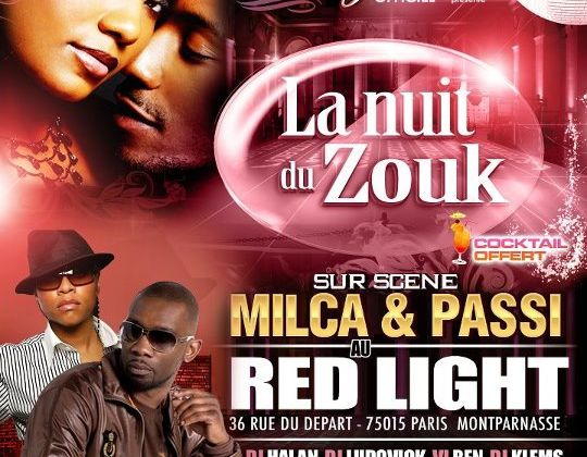 MILCA ET PASSI AU RED LIGHT SOIREE PRESTIGE LE 01 SEPTEMBRE 2012