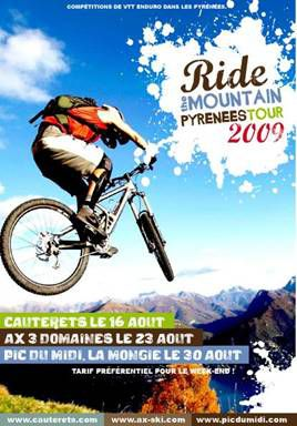 Enduro VTT RIDE THE MOUNTAIN TOUR - CAUTERETS 16 aout 2009