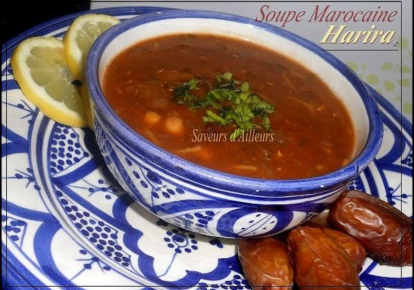 ♥ Soupe nationale Marocaine / Moroccan soup : La Harira / حريرة