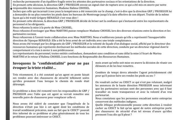 Buletin d'information GRP / PROSEGUR 2013.