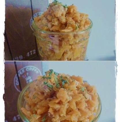 Verrines vitaminées carottes/citron thon et coriandre