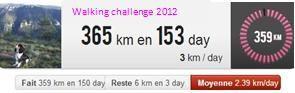 Le walking challenge touche à sa fin