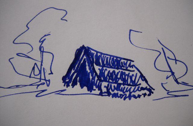 Cabanes en toits de genêts en Périgord et en Auvergne