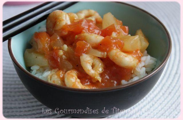 Crevettes à la sauce Aigre Douce