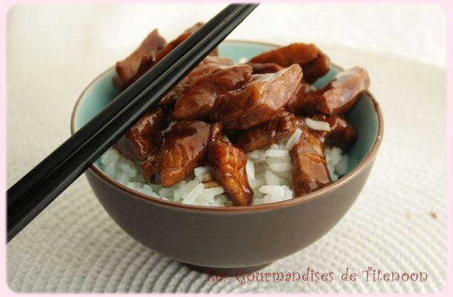 Porc (ou Tofu) au caramel