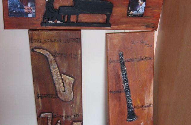 2 toiles thème jazz 3D