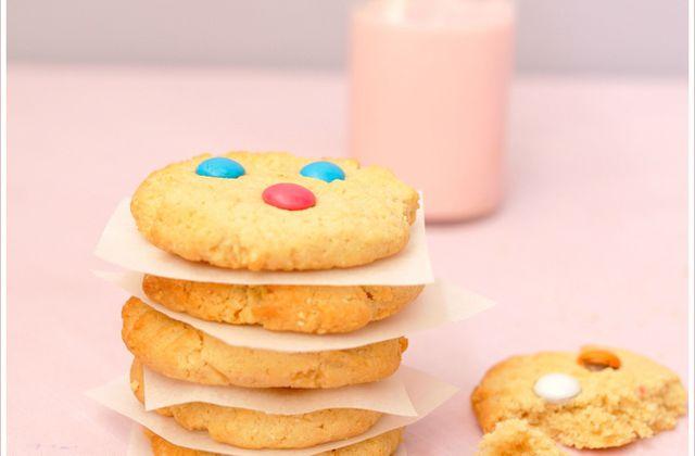 Cookies au beurre de cacahuètes et smarties