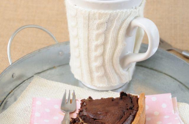 Tarte fondante au chocolat et confiture de lait
