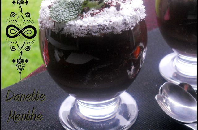 "♥ Crème dessert chocolatée Menthe Coco --- ""Light"" ---"