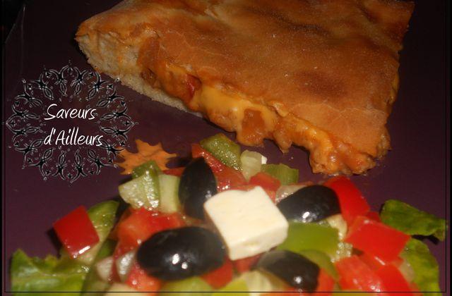Pain fourré à la viande et au fromage